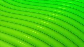 Surface de ondulation abstraite en vert banque de vidéos