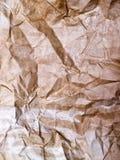 Surface de papier jaune chiffonnée âgée Photographie stock libre de droits