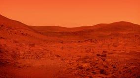 Surface de planète de Mars avec le soufflement de la poussière banque de vidéos