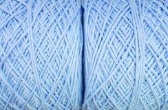 Surface de plan rapproché de modèle de tissu à la pile du fond bleu de texture de fil Photo libre de droits