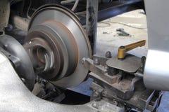 Surface de reconstruction de frein à disque images libres de droits