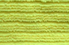 Surface de tissu jaune de microfiber Fin vers le haut Photos stock