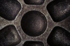 Surface de vieille forme sale de boulangerie en métal pour le fond toned Photo libre de droits