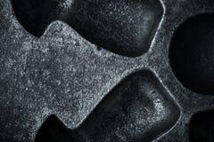 Surface de vieille forme sale de boulangerie en métal pour le fond toned Photos stock