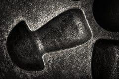Surface de vieille forme sale de boulangerie en métal pour le fond toned Photos libres de droits