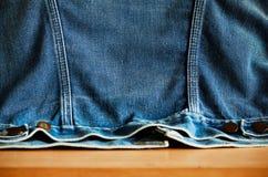 Surface of denim jacket. Royalty Free Stock Image