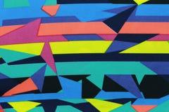 Surface des tissus colorés et des modèles abstraits Photographie stock libre de droits