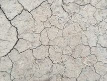 The surface of dry land with many cracks without a drop of water royalty free stock photos