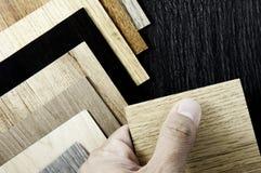 Surface du fond en bois de teck pour la conception et la décoration Bois Photos stock