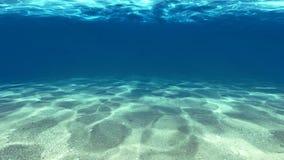 Surface du sable sous l'eau photographie stock libre de droits