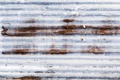 Surface en acier galvanisée ondulée rouillée de feuillard de fer pour t image stock
