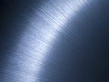 Surface en aluminium balayée Photographie stock