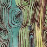 Surface en bois d'aquarelle Photographie stock libre de droits