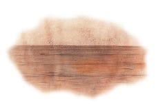 Surface en bois d'aquarelle Image stock