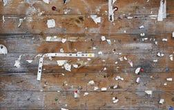 Surface en bois de babillards de rue Photos stock