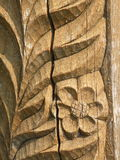 Surface en bois florale Images stock
