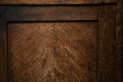Surface en bois texturisée de rétro vintage Fond foncé grunge de bois Détail des meubles de vintage Photographie stock