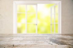 Surface en bois vide Photo stock