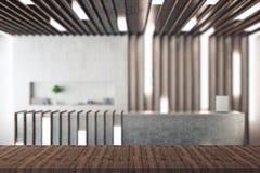 Surface en bois vide Photo libre de droits