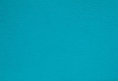 Surface en cuir de fond de texture de turquoise Image libre de droits