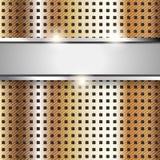 Surface en métal, fond de cuivre de texture de fer Photos libres de droits