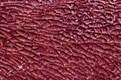 Surface en verre cassée par couleur rose Photo libre de droits
