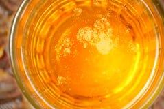 surface en verre de bière Images libres de droits
