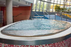 Surface enabled whirlpool tubs. Royalty Free Stock Photography