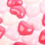 Surface enduite des perles de coeur Photographie stock libre de droits