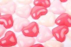Surface enduite des perles de coeur Image libre de droits