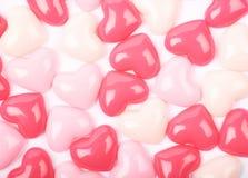 Surface enduite des perles de coeur Photo libre de droits