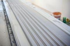 Surface finish gypsum moldings Stock Photos