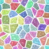 Floor marble mosaic pattern seamless background with white grout - light sweet pastel color spectrum. Surface floor marble mosaic pattern seamless background Royalty Free Stock Photos
