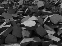 Surface foncée criquée de démolition concrète Images stock