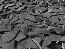 Surface foncée criquée de démolition concrète Photo libre de droits