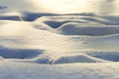 Surface of freshly fallen snow in the sun stock photos
