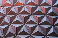 Surface géométrique métallique image stock