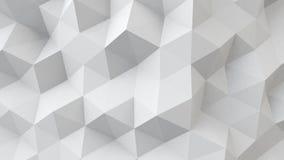 Surface géométrique polygonale blanche Images libres de droits