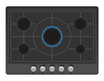 Surface for gas stove vector illustration Royalty Free Stock Photos