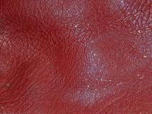The surface of genuine leather. Close up Royalty Free Stock Image