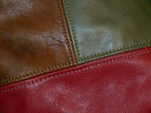 The surface of genuine leather. Close up Royalty Free Stock Photography
