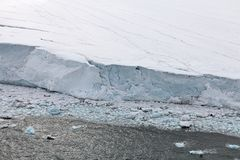 Surface of a glacier Royalty Free Stock Photography