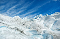 Surface of a glacier in patagonia. Stock Photo