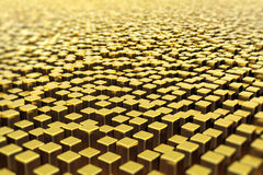 Surface of golden bars Stock Photo