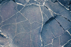 Surface of the gray-brown stone Royalty Free Stock Images