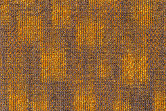 Surface of the grayish orange carpet. Stock Photo