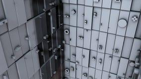 Surface greeble abstraite de cubes sur le fond noir rendu 3d illustration libre de droits