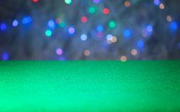 Surface of green gambling table. In casino royalty free stock photos