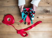 Surface, greeting, decoration, copy, white, special, view, red, blank, anniversary, new, shot, holiday, celebration, christmas, ca Stock Images