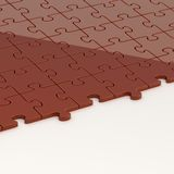 Surface half-covered with the puzzles Stock Photos